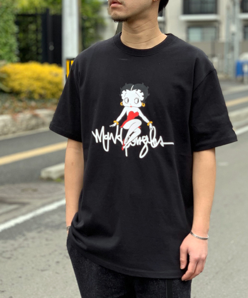 【Mark Gonzales × BETTY BOOP】 プリント Tシャツ
