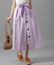 Andemiu(アンデミュウ)の3WAYボタンプリーツスカート834524(スカート)