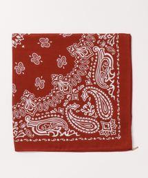 ROPE' mademoiselle(ロペマドモアゼル)のシルク綿バンダナ柄スカーフ(バンダナ/スカーフ)