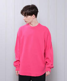 <H>HEAVY COTTON CREW NECK PULLOVER/カットソー