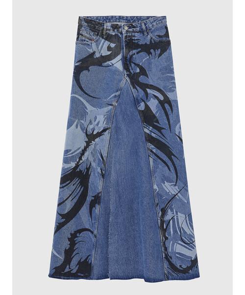 DIESEL(ディーゼル)の「レディース スカート Aラインロングデニムスカート(スカート)」|詳細画像