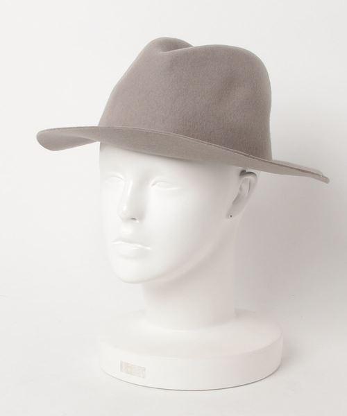 collex(コレックス)の「Brim Felt Hat(ハット)」|ライトグレー