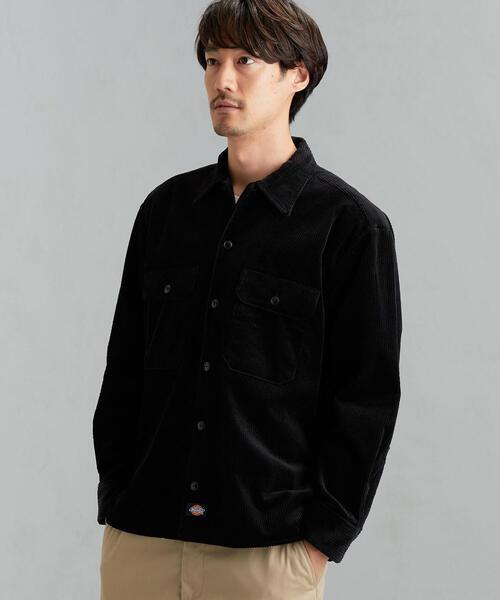 Dickies(ディッキーズ)の「別注 [ディッキーズ] SC DICKIES GLR6W コーデュロイ CPOシャツ(シャツ/ブラウス)」|ブラック