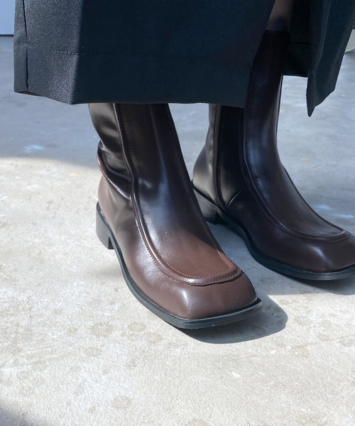 【chuclla】【2020/AW】Low heel square toe boots chs101