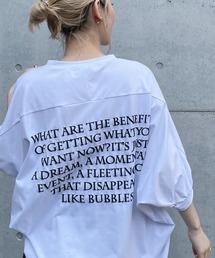 バックプリントドルマンTシャツオフホワイト