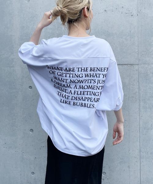 バックプリントドルマンTシャツ