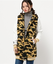 1ST CAMO SHARK LONG VARSITY JACKET L(スタジャン)