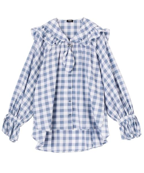 Sailor Ruffel Mix Shirt