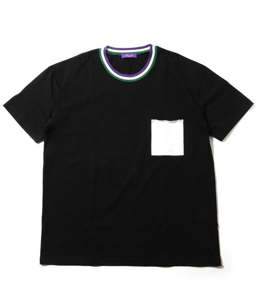 RADIO EVA 569 EVANGELION Ringer Pocket T-Shirt