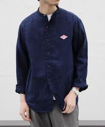 DANTON/ダントン リネンスタンドシャツ LINEN STAND SHIRTS #JD3607KLSネイビー