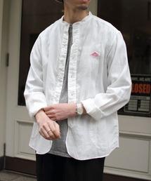 DANTON/ダントン リネンスタンドシャツ LINEN STAND SHIRTS #JD3607KLSホワイト