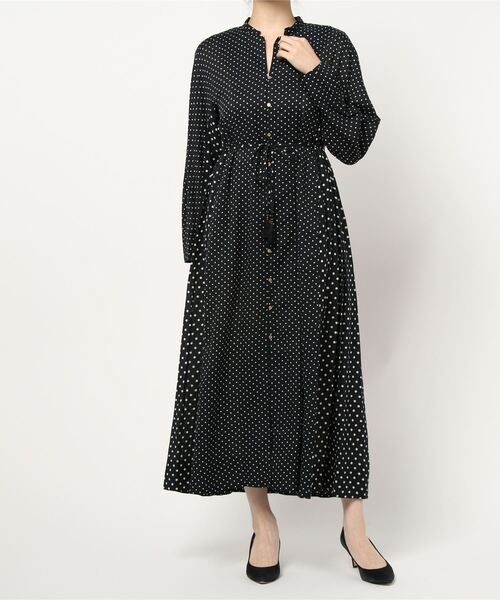 【 ne Quittez pas / ヌキテパ 】COTTON RAYON TWILL PRINT GOWN 011102957