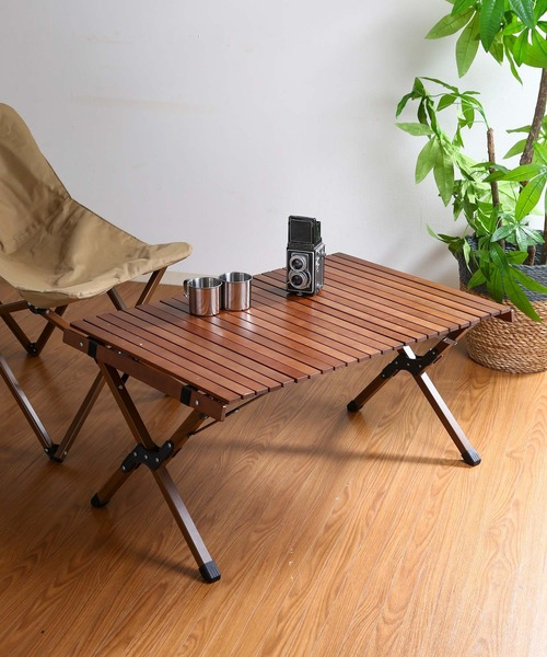 【aamu/アーム】ウッドトップ フォールディングテーブル