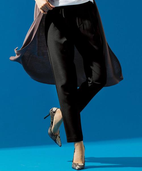 Ranan(ラナン)の「美シルエットタックパンツ(パンツ)」|ブラック