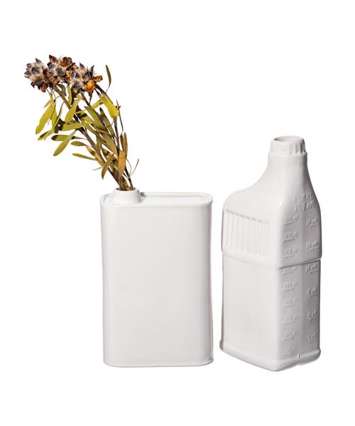 PUEBCO(プエブコ)の「OIL CAN SHAPED FLOWER VASE(フラワーベース)」|ホワイト