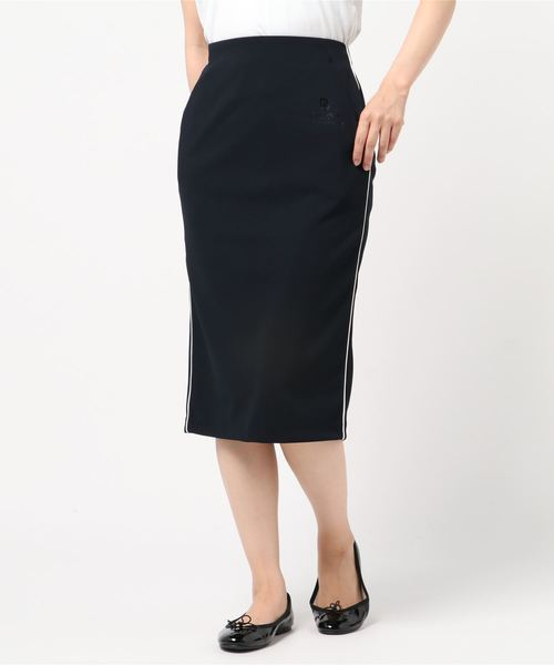DOUBLE STANDARD CLOTHING(ダブルスタンダードクロージング)の「【ESSENTIAL】ONOPOLYポンチスカート(スカート)」|ネイビー
