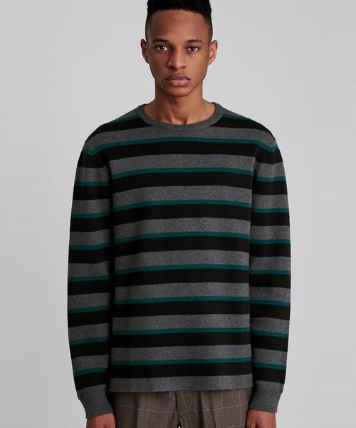 Saturdays NYC(サタデーズ ニューヨークシティ )の「Lee Stripe Sweater(ニット/セーター)」 ターコイズブルー