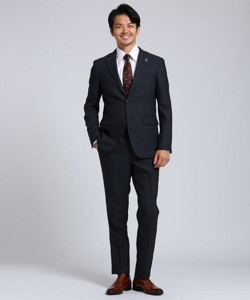 千本絣格子 スーツ