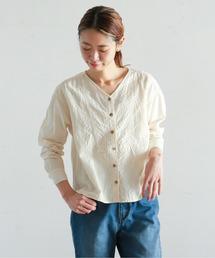 NOMBRE IMPAIR(ノンブルアンペール)のビッグヘリンボーンジャガード ショートシャツ(シャツ/ブラウス)