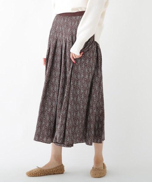 ラウンド  ドットフラワープリントスカート, ジュエリーショップ TOKUGAWA e8908a70