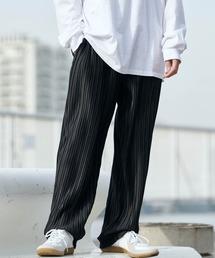 バルーンビッグシルエット シェフパンツ/スケーターパンツ ワイドデニムパンツ アソートfabric/ Chef's Pants -2021AW-ブラック系4