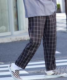 バルーンビッグシルエット シェフパンツ/スケーターパンツ ワイドデニムパンツ アソートfabric/ Chef's Pants -2021AW-ブラック系7