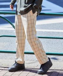 バルーンビッグシルエット シェフパンツ/スケーターパンツ ワイドデニムパンツ アソートfabric/ Chef's Pants -2021AW-ベージュ系2