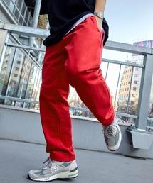 バルーンビッグシルエット シェフパンツ/スケーターパンツ ワイドデニムパンツ アソートfabric/ Chef's Pants -2021AW-レッド