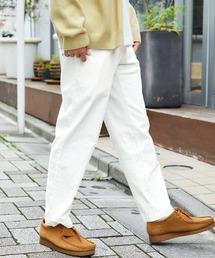 バルーンビッグシルエット シェフパンツ/スケーターパンツ ワイドデニムパンツ アソートfabric/ Chef's Pants -2021SPRING&SUMMER-ホワイト