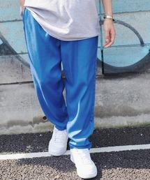 バルーンビッグシルエット シェフパンツ/スケーターパンツ ワイドデニムパンツ アソートfabric/ Chef's Pants -2021AW-ブルー