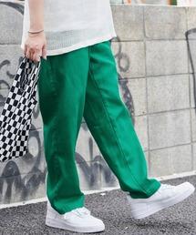 バルーンビッグシルエット シェフパンツ/スケーターパンツ ワイドデニムパンツ アソートfabric/ Chef's Pants -2021AW-グリーン
