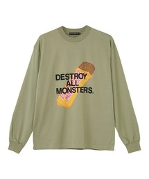 DESTROY ALL MONSTERS/PBMF Tシャツカーキ