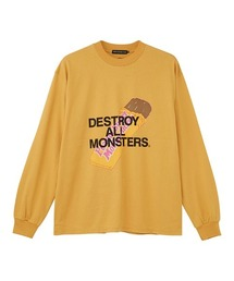 DESTROY ALL MONSTERS/PBMF Tシャツイエロー