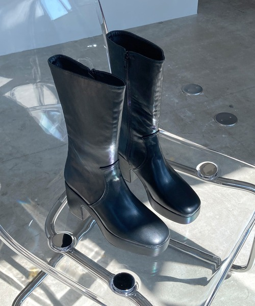 【chuclla】【2020/AW】Volume sole Middle boots chs103