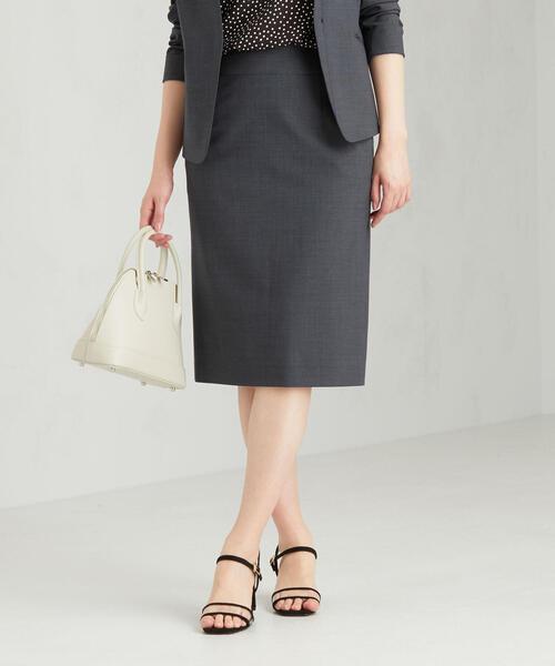 [手洗い可能/ライトカチリラ] ◆D バックゴム タイト スカート