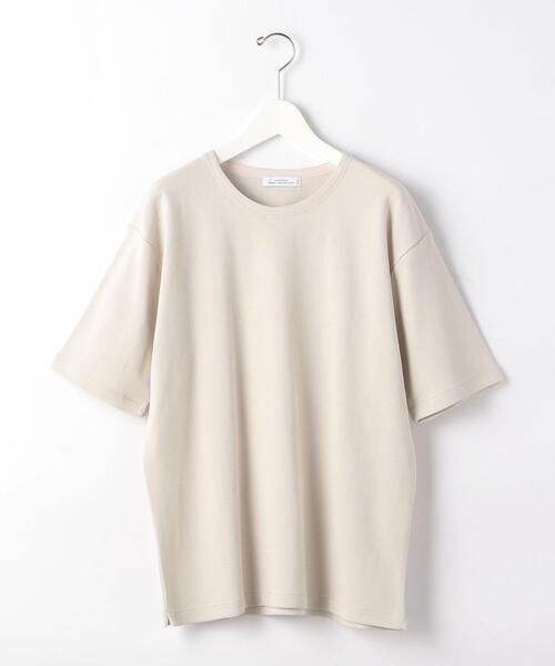 SC ガーター ノーカラー 半袖 Tシャツ カットソー