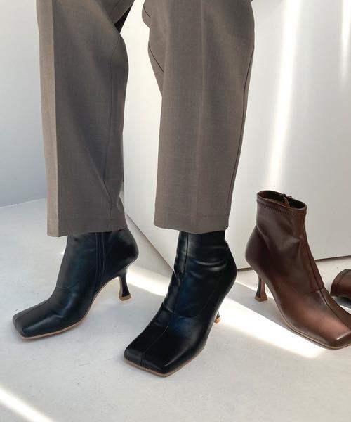 【chuclla】【2020/AW】Shape heel square boots chs104