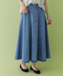 ITEMS URBANRESEARCH(アイテムズ アーバンリサーチ)のボタンフライデニムスカート(スカート)