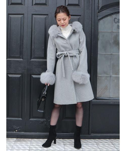 最安値挑戦! ROYALフード付FOXファーウールコート(その他アウター) ROYAL PARTY(ロイヤルパーティー)のファッション通販, 宗谷郡:56385273 --- blog.buypower.ng