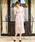 Fashion Letter(ファッションレター)の「総レースIラインロング 結婚式ワンピース パーティードレス(ドレス)」 ピンクベージュ