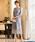 Fashion Letter(ファッションレター)の「総レースIラインロング 結婚式ワンピース パーティードレス(ドレス)」 ブルーグレー