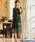 Fashion Letter(ファッションレター)の「総レースIラインロング 結婚式ワンピース パーティードレス(ドレス)」 ダークグリーン