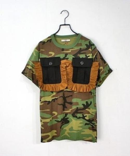 激安の NON TOKYO/ノントーキョー/カスタムフリルポケットTシャツ, アルマーディオ a10552a5