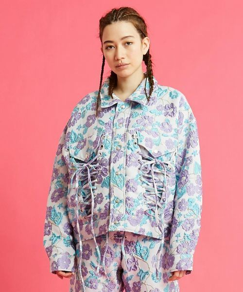 【公式ショップ】 LittleSunnyBite/リトルサニーバイト/Flower jacket /フラワージャケット, DCMオンライン cc48ddbb