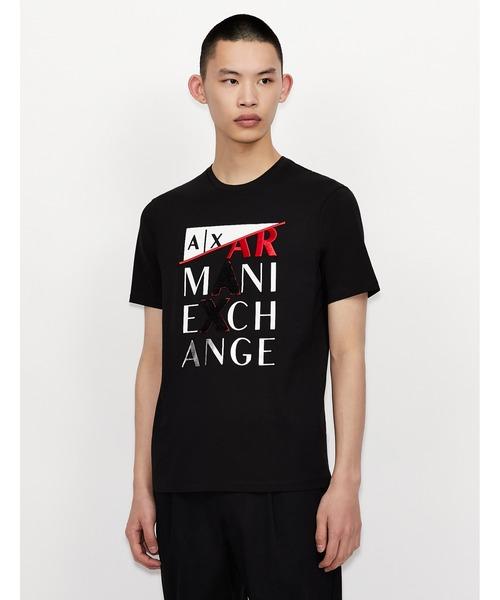 【A|X アルマーニ エクスチェンジ】3Dロゴ 半袖クルーネックTシャツ/REGULAR
