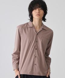 STUDIOUS(ステュディオス)の【STUDIOUS】マイクロノーヴァオープンカラーシャツ(シャツ/ブラウス)