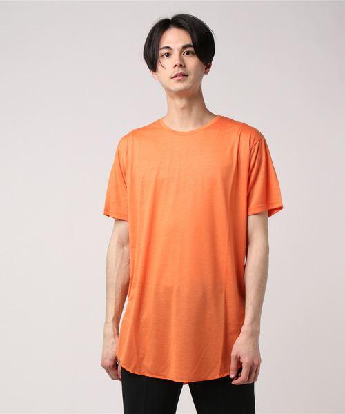 柔らかTR天竺ロング丈Tシャツ