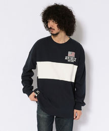 AVIREX(アヴィレックス)のヴァーシティー ラガー クルーネック Tシャツ/ LS VARSITY RUGGER CREW NECK T-SHIRT(ポロシャツ)