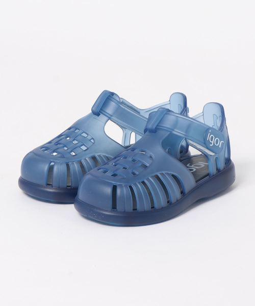 igor(イゴール)の「igor/イゴールkids sandals/キッズサンダル TOBBY VELCRO/水遊び/ビーチサンダル(ビーチサンダル)」|ネイビー