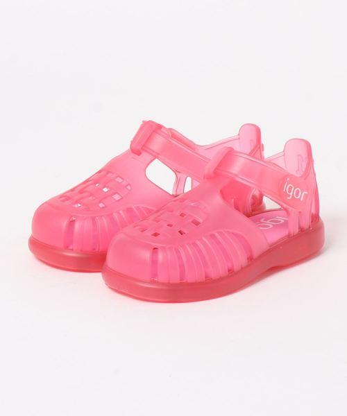 igor(イゴール)の「igor/イゴールkids sandals/キッズサンダル TOBBY VELCRO/水遊び/ビーチサンダル(ビーチサンダル)」 ピンク